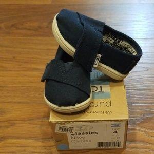 Infant Toms - Navy - Size 4